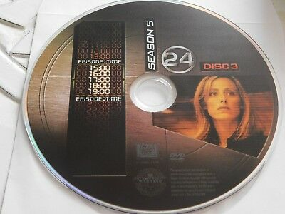 24 Fifth Season 5 Disc 3 DVD Disc Only 48-185