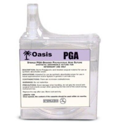 Oasis PGA 2-0 Suture Cassette, Braided Absorbable, 15 Meters, Veterinary Use