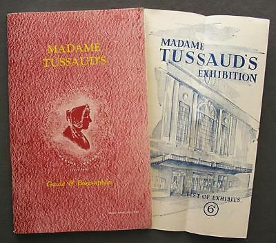 1954 Revised Madame Tussaud's Wax Museum Guide Book & List Of Exhibits Brochure