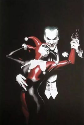 rare oop poster alex ross harley quinn and joker 24 by 36