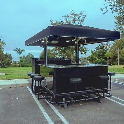 Party Tailgate Trailer with 8 Burner BBQ, TVs, Satellite Dish, 8 Bar Stools