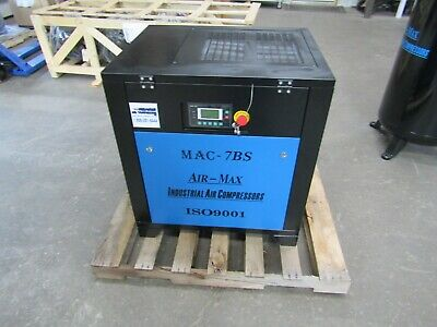 Air-Max AMB-7SBM 7.5hp. Single Phase (NEW ) Industrial  Rotary Screw Compressor