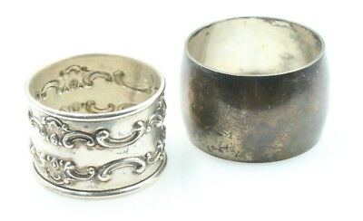Lot Of 2 Non Matching Sterling Silver Napkin Rings Holders S. Kirk Gorham Nr 753