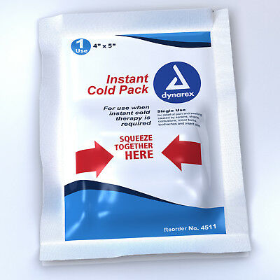 Dynarex Instant Cold Pack Junior Disposable 4 x 5 Inch Case of 24 *SHIPS FREE!*