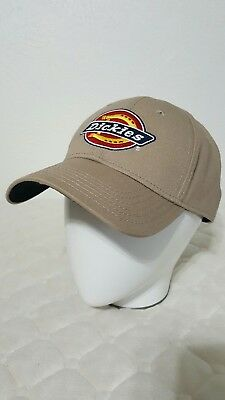 67287f05a56 NWOT! DICKIES HATS Mens Taupe Adjustable Velcro Fit Logo Baseball ...