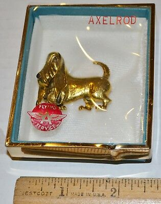 Flying A Axelrod Pin With Box - Gas Station Memorabilia Petroliana Basset Hound