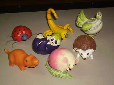 Seven assorted Home Grown Collectible Animals By Enesco