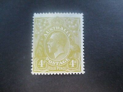 KGV Stamps: 4d Olive Mint - great item  (a143)