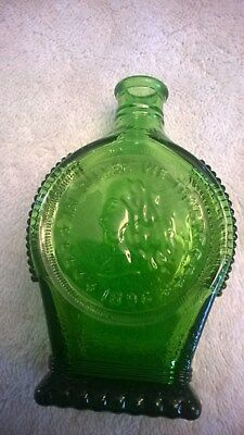 Wheaton Bottle 5in Vintage In Silver We Trust Green