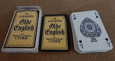 Deck of Vintage Gaymers Olde English Cider playing cards by Waddingtons Leeds