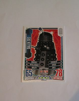 Doctor Who Alien Attax 50th Anniversay set 45 Dalek Sec