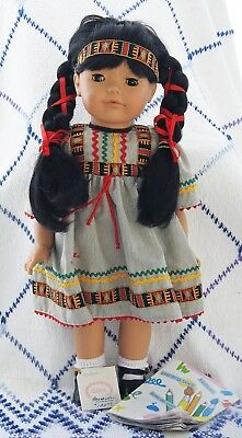 "Gotz 18"" Doll - Cassandra - Native American - Vintage - with Box - No Reserve!"