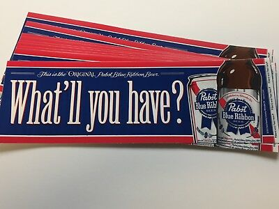 10 Pabst Blue Ribbon Beer Bumper Stickers Pbr