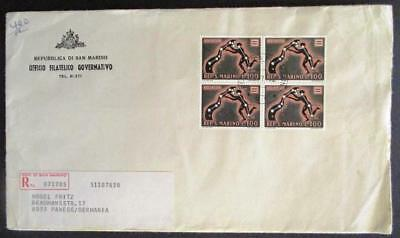 San Marino 1970 Aquarius Zodiac sign commercial mail cover