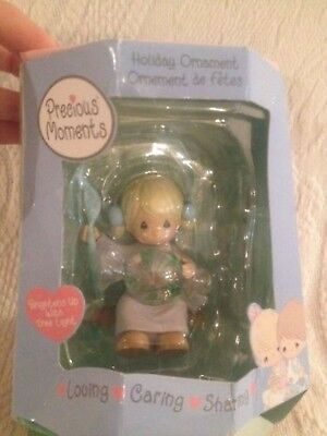 Precious Moments Christmas Ornament Girl W/ Peppermint Candy Enesco 2002