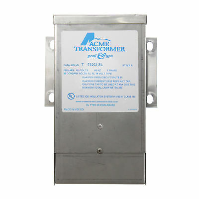 Acme T-79203-Sl Pool & Spa Low Voltage Transformer, 120V:in, 12Vac Output