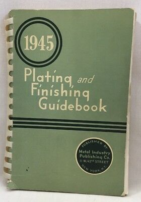 1945 Metal Plating & Finishing Guidebook Solution Recipes How-To Instructions