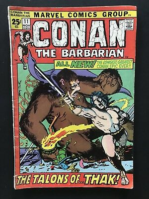 CONAN THE BARBARIAN #11. Marvel Bronze Age Comic. Barry Smith. Free Shipping