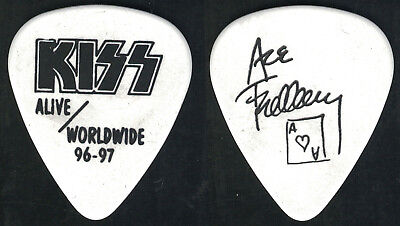 Kiss-Ace Frehley 1996 Reunion Alive Worldwide Guitar Pick-Rare! White/black!