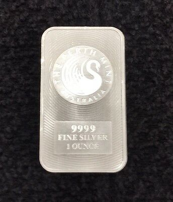 1oz Silver Bullion Bar Perth Mint
