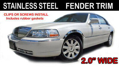 Chrome Pillar Post Covers for 1998-2012 Lincoln Town Car 6 Pieces