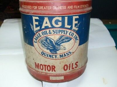 Vintage Eagle Oil &supply Co. Quincy,mass. Antique Oil Can (Empty)5 Gallons