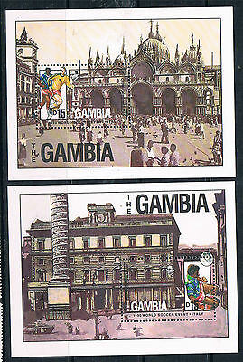 Gambia 1989 World Cup Football MS SG 913 MNH