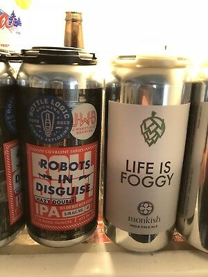 Monkish & J Wakefield/Bottle Logic DIPA/IPA Robots In Disguise & Life Is Foggy