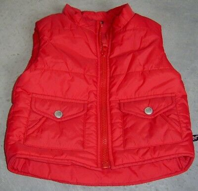 Fred Bare Boys Red Puffer Vest Sz 3