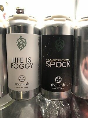Monkish IPA's Life Is Foggy & Smarter Than Spock  2 cans for sale