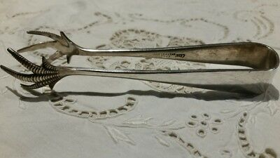 Antique Sheffield Silver Tongs:  E.P.N.S.