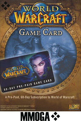 WOW 60 Day PrePaid Time Card - 2 Month World of Warcraft Game Code PC MAC - USA