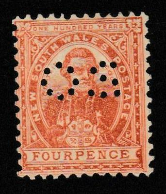 NSW 1906 4d brown and 6d orange mint - with OS perf