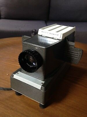 "Vintage Bell & Howell Family 4"" Slide Projector and screen"