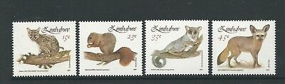1991 Small Mammals set 4 MUH/MNH as Issued