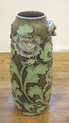 Rare and Unusual Doulton Lambeth stoneware vase by Francis Pope