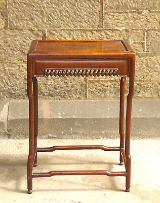 Chinese Hongmu Wood Side Table Qing Dynasty 19th C