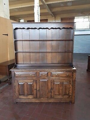 Antique/reproduction Country/farmhouse Large Solid Oak Dresser Sideboard Cabinet