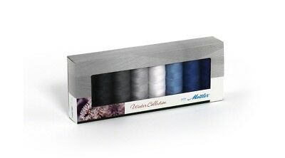 Mettler Seralon Assorted Embroidery Winter Thread Pack 8 x 200m Spools