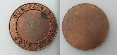 Collectable Dukinfield Golf Club Token - Cheshire