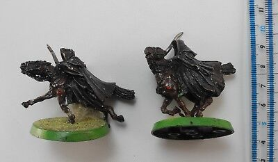 2 MOUNTED RING WRAITHS Metal Lord of the Rings Evil Army Nazgul Ringwraiths 42