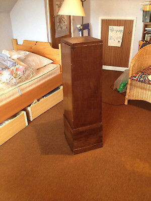 1920's/1930's antique plinth display stand. Rotating top. Art deco period