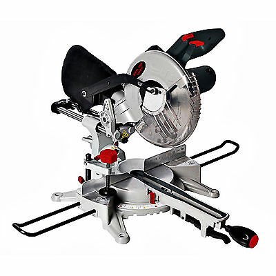 "D Pro Tools 250mm 10"" POWERFUL 1800W Motor Sliding Compound Mitre Saw with Laser"