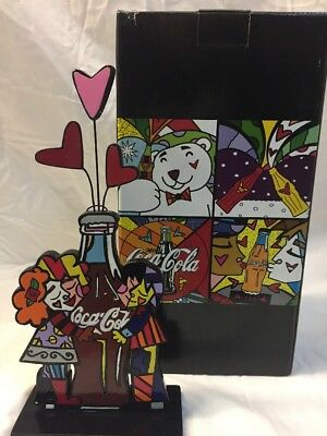 Romero Britto for Coke Coca Cola Couple Hugging Bottle New for 2014