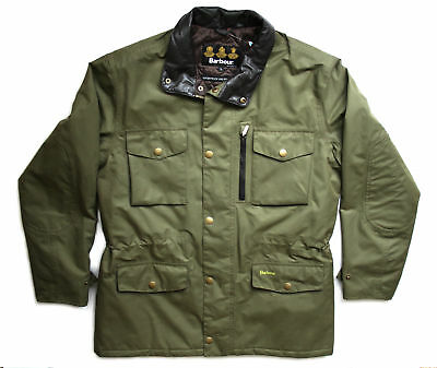 Genuine Barbour Mens Green Brown SMU Bramhope Country Jacket Size L RRP£200