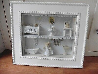 Sylvanian Families Scene Bears Dolls House Box Framed Picture Child Baby Room