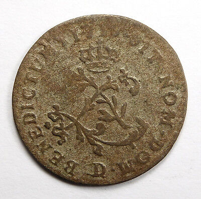 1709 - 1760 French Colonies 24 Deniers Billon Coinage