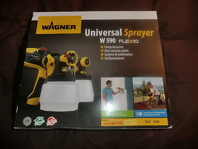 BOXED WAGNER Flexio W590 Universal Electric Paint Sprayer for Wood Walls ETC