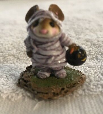 Wee Forest Folk, WFF# M-194, Purple Mummy Mouse