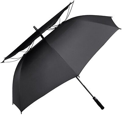 G4Free 62 Inch Windpoof Golf Umbrella Double Canopy Vented Large Waterproof